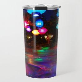 Teacups Blur at Night Travel Mug