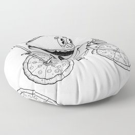 Pizzabike Burger Floor Pillow