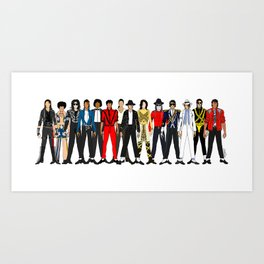King MJ Pop Music Fashion LV Art Print