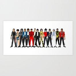 King MJ Pop Music Fashion LV Kunstdrucke