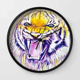It Never Rains in Tiger Stadium  Wall Clock
