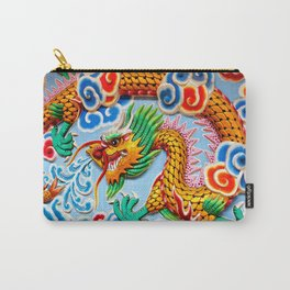 Chinese Temple Wall Art Carry-All Pouch