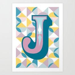 Letter J Art Print