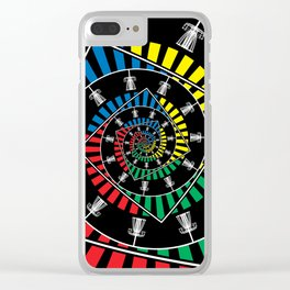 Spinning Disc Golf Baskets Clear iPhone Case
