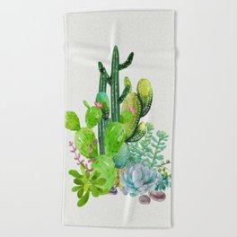 Cactus Garden II Beach Towel
