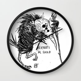 Mostro Brutto alienato Wall Clock