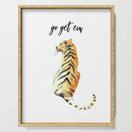 go get em tiger Serving Tray