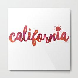 California Sun Watercolor Metal Print