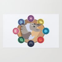 umbreon Area & Throw Rugs featuring Evolution Possibilities  by creativeesc