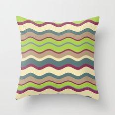 Appley Wave Throw Pillow