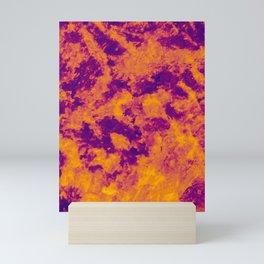 Yellow - Orange - Purple Abstract Texture Mini Art Print