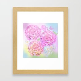 Pink Hortensias and other flowers Framed Art Print