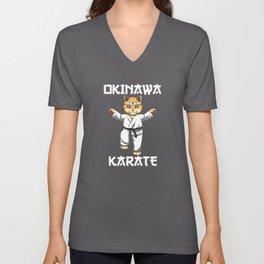 Karate Cat -Kempo Karate Unisex V-Neck