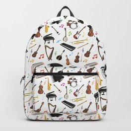 Various Musical Instruments Backpack