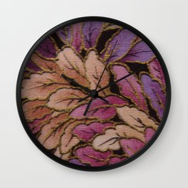 Coloured Leaves Wall Clock