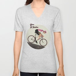 Giro D'Italia Cycling Race Italian Grand Tour Unisex V-Neck
