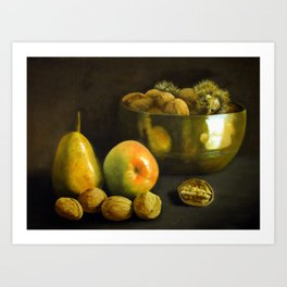 Fruit and Nuts Art Print