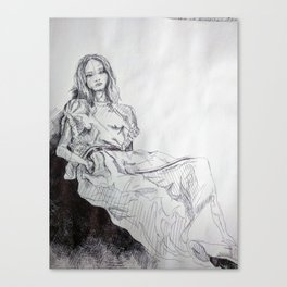 The Lounging Canvas Print