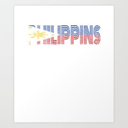 Phillipines Islands Vintage Flag Gift Filipino Pride Country Art Print