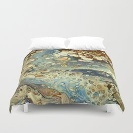 Brown and blue (2) Duvet Cover