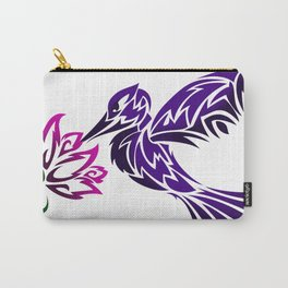Hummingbird W/ Flower Carry-All Pouch