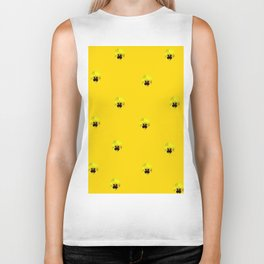 YELLOW  PANSY FLOWERS SPRINKLES GOLDEN YELLOW Biker Tank
