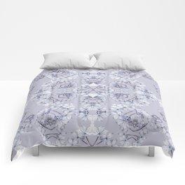 Full Kaleido Pale Blue Wildflowers Comforters
