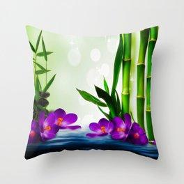 Bamboo 3 Throw Pillow