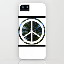 Peace + Palm Trees iPhone Case