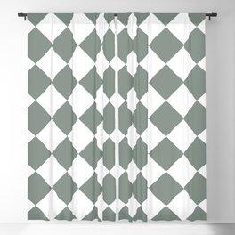 Checkered (Linen Green) Blackout Curtain