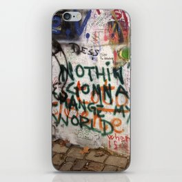 Nothin's Gonna Change My World - Lennon Wall iPhone Skin