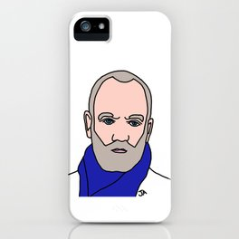Michael Stipe of REM Illustration - Lead Singer of the 90s Collection  iPhone Case