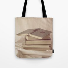 books in bed Tote Bag