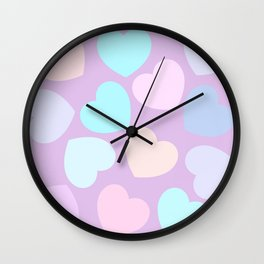 purple valentine Wall Clock