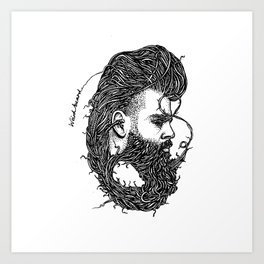 Weird Beard Art Print