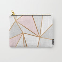 Pink, Grey & Gold Geo Carry-All Pouch