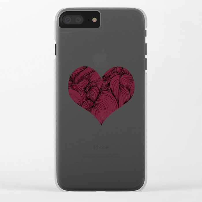 Rose Petal Red Clear iPhone Case