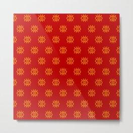 Eyes on You - Fiery Red Metal Print