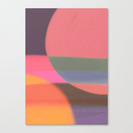Mid-century modern abstract composition Canvas Print