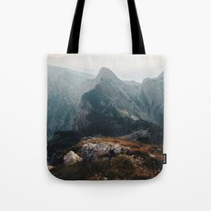 Morning on the edge Tote Bag