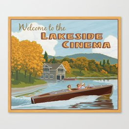 Lakeside Cinema Canvas Print