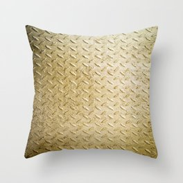 Gold Painted Metal Stylish Design Throw Pillow