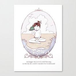ee cummings - Maggie Canvas Print