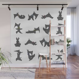 scottie yoga pose artwork Wall Mural