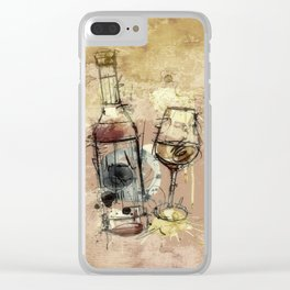 Spilt Wine Clear iPhone Case
