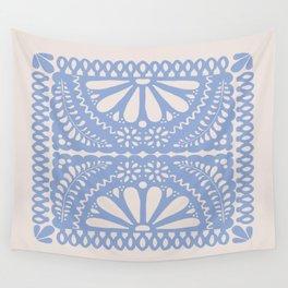Fiesta de Flores Serenity Blue Wall Tapestry