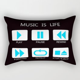 Music Is Life Rectangular Pillow