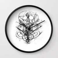 bee Wall Clocks featuring Bee. by sonigque
