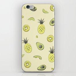 Pineapple and Avocado iPhone Skin