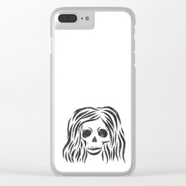 *Wild* - digital disstressed illustration Clear iPhone Case